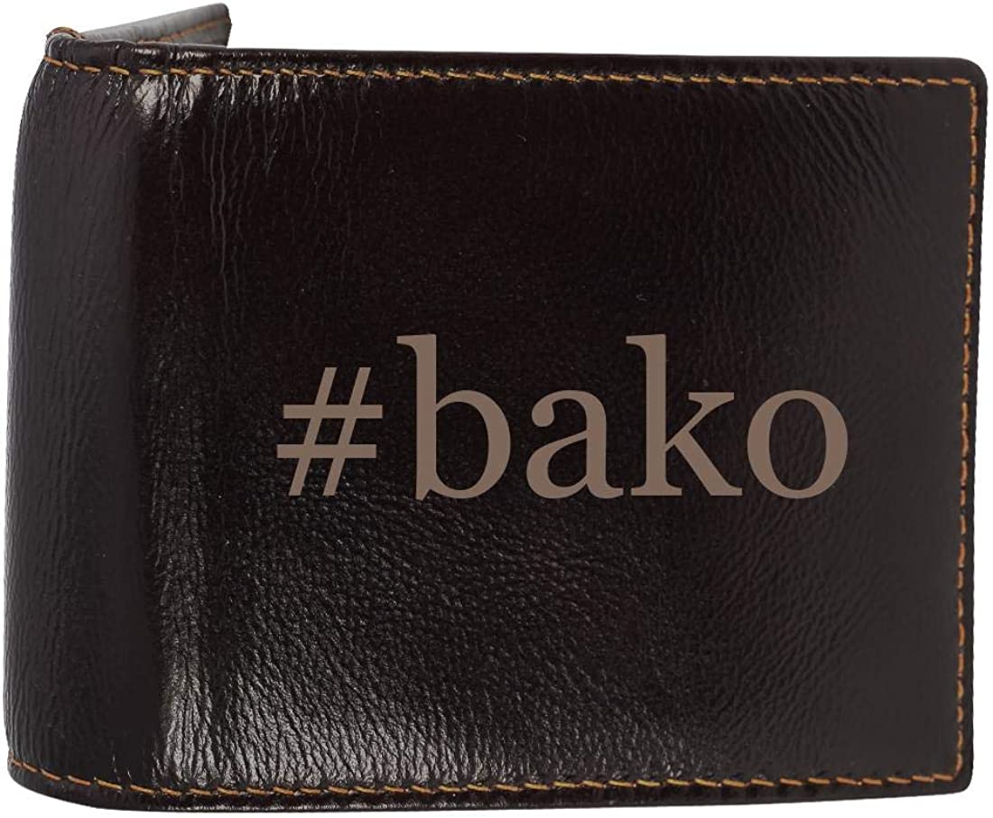 #bako - Genuine Engraved Hashtag Soft Cowhide Bifold Leather Wallet 61kMCMQEVXL