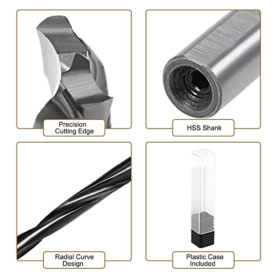 50374 11//64 Jobber Drill Carbide Tipped 118/° Standard Point USA Made .1719