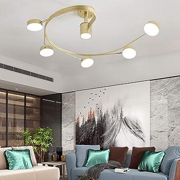 Amazon Com Zxk Black Gold Acrylic Nordic Ceiling Lamp