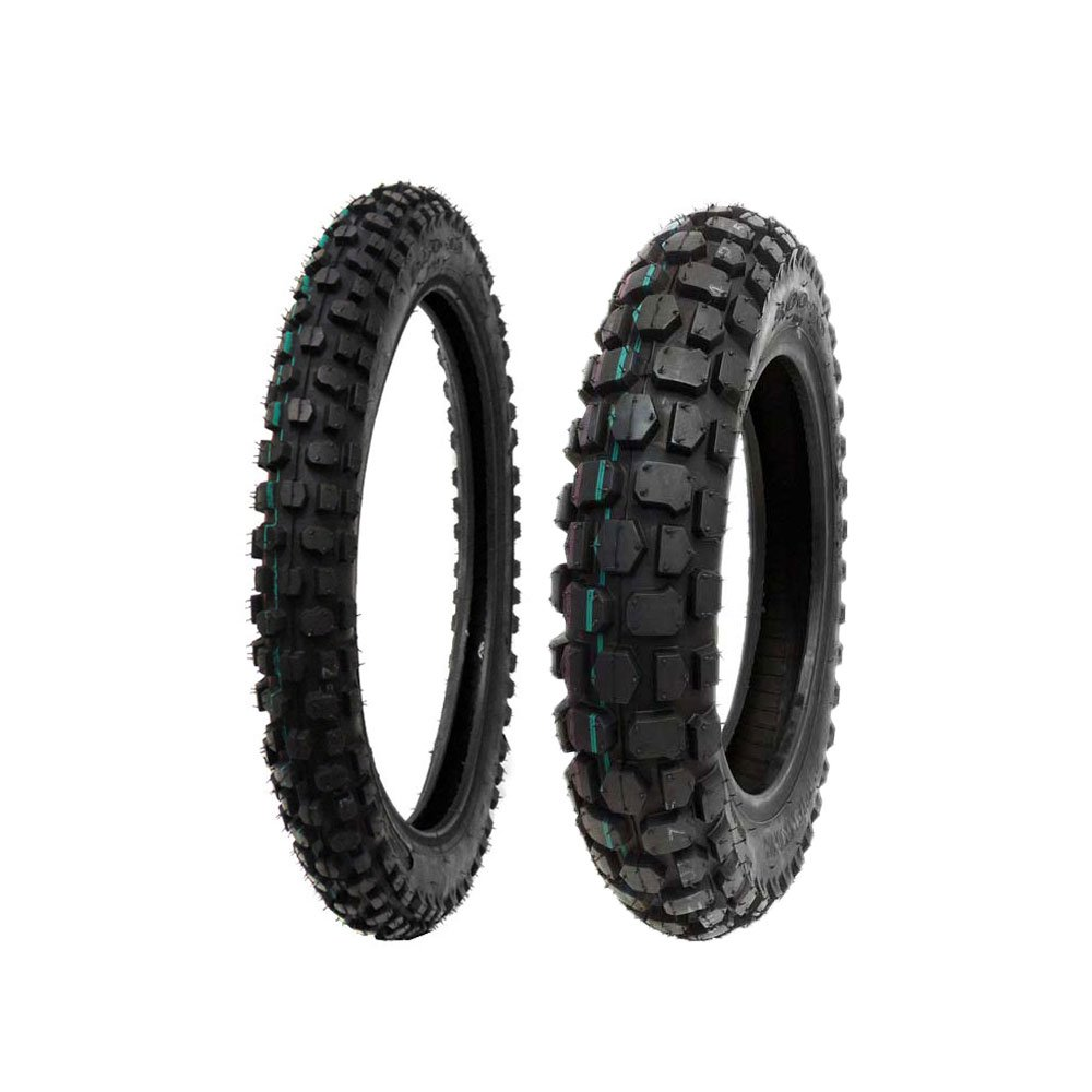 TIRE SET: Front 2.50-14 Rear 3.00-12 Dirt Bike Off Road MMG