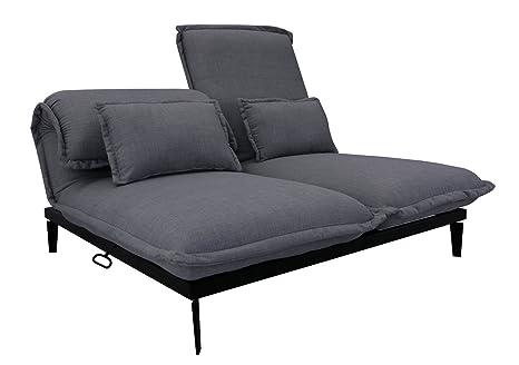 Sofá convertible de diseño de 2 plazas - Respaldo ajustable ...