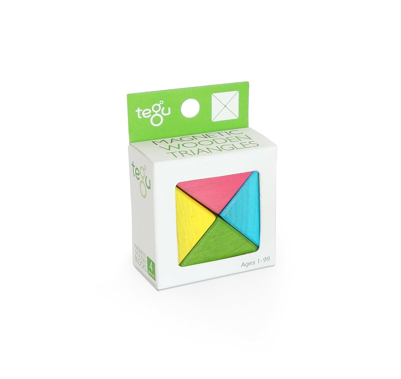 4 piece Tegu Magnetic Wooden Block Parallelograms Set Tints Tegu Toys PRL-TNT-509T