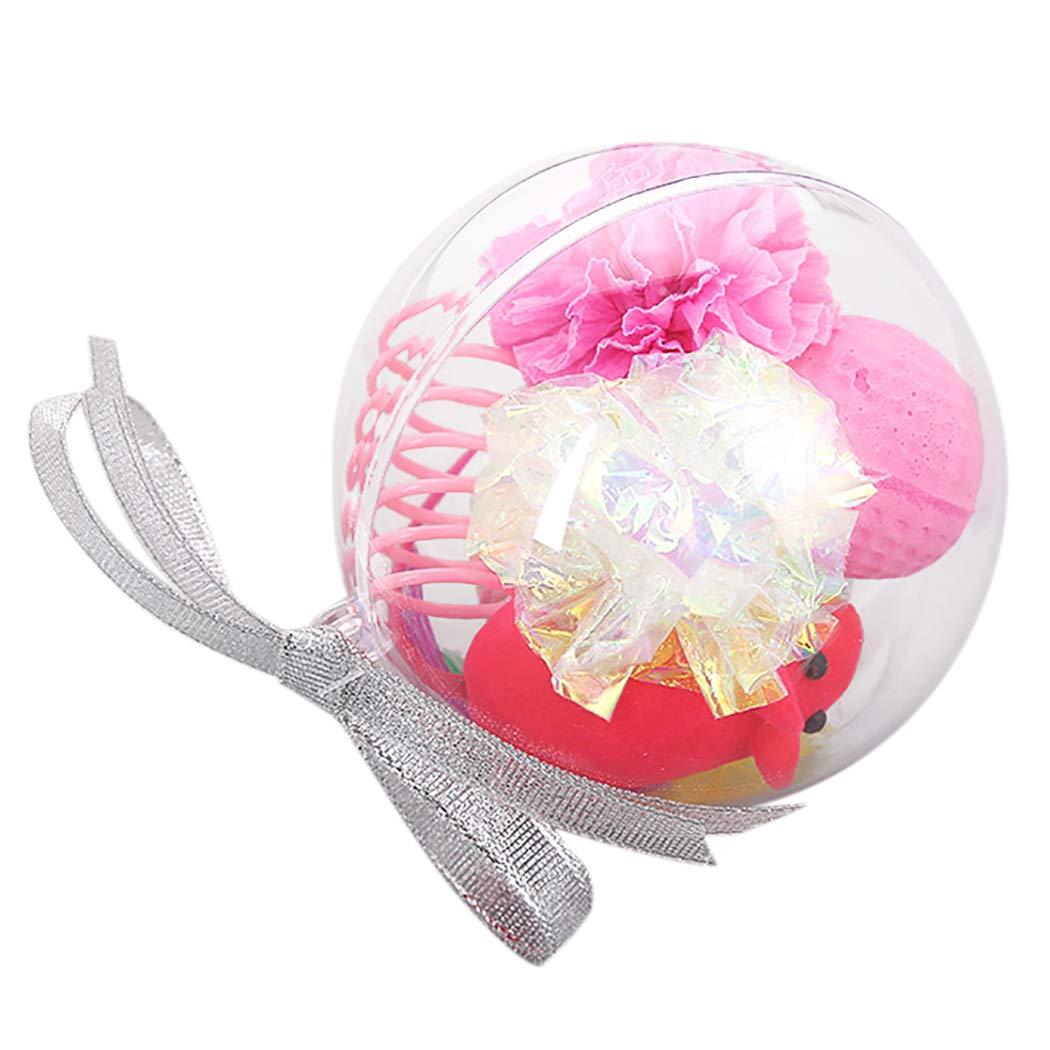 Legendog Weihnachtskatzen-Spielzeug-Satz, kreative sortierte Art Haustier-Spielzeug-Katzen-Teaser-Spielzeug Katzen-Ball-Spielzeug