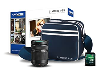 Olympus E0411032 - Objetivo Mzuiko 40-150 mm Negro (Incluye Funda Pen Urbana y Tarjeta SD de 8 GB)
