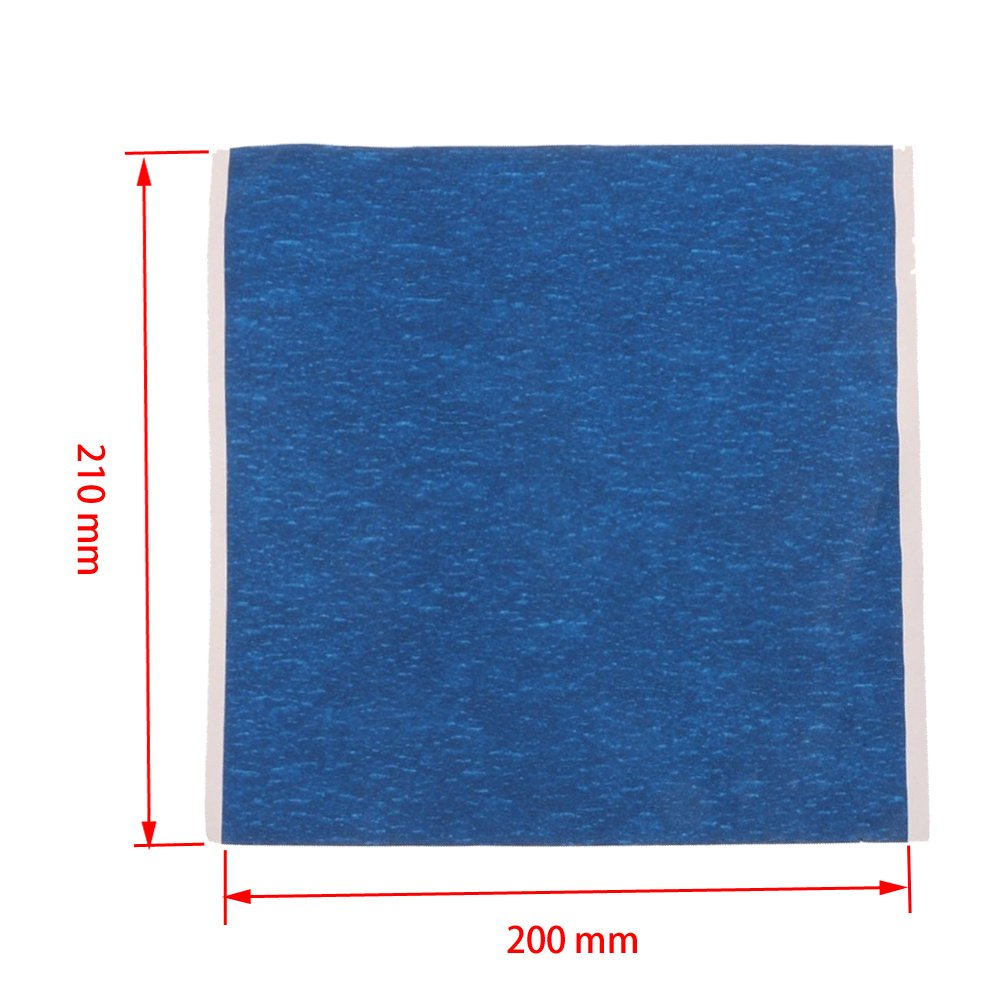 Nicky 2 Pcs 210X200 mm 3D Printing High Temperature Film for Anti-wrapping Edge of Model Multiple Use for Platform Surface Building Compatible with MK2 MK3 Hot Bed Prusa Reprap 3D Printer Accessories
