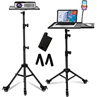 Laptop Projector Tripod Stand, LEKVEY Adjustable Laptop Stand, with Wheels Gooseneck Phone Holder, Foldable Mobile…