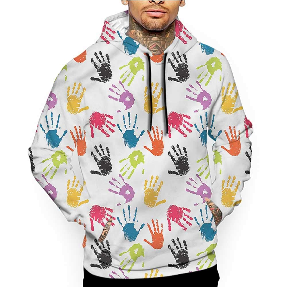 Hoodies Sweatshirt/Men 3D Print Kawaii,Cartoon Design and Glasses,Sweatshirts for Men Prime