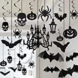 Toys : Halloween Haunted House Chandelier Decoration Swirl Ceiling Hanging and Wall Decoration Set