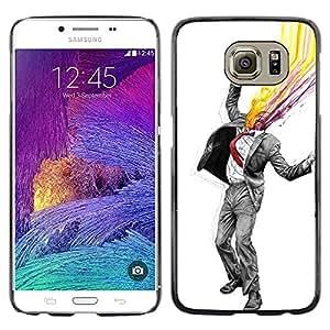 Resumen Gentleman - Metal de aluminio y de plástico duro Caja del teléfono - Negro - Samsung Galaxy S6