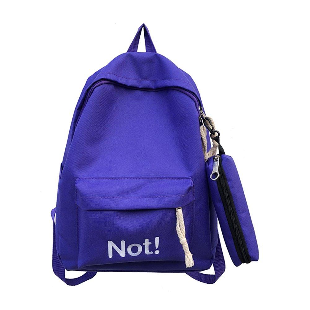 gainvictorlf Backpack Fashion Letters Nylon Student Girls Travel School Backpack Pencil Bag (Purple)