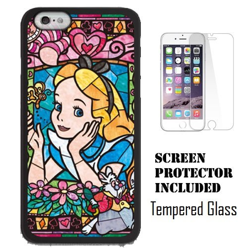 Disney's Mickey & Minnie, Little Mermaid, Snow White, Alice in Wonderland Stained Glass, Disney Stained Glass for Apple iPhone 6/6s (4.7