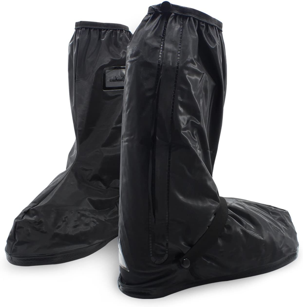 Foldable Portable Waterproof Motorcycle Bike Boot Shoes Cover SHARBAY INC Reusable Shoes Cover Rainstorm Rainsuit Rainy Day Rain Gear Shoes Boots Cover with Side Zippered for Men Women