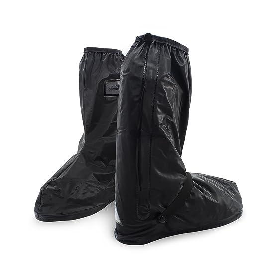 Botas impermeables, fundas de lluvia para zapatos, color negro, antideslizantes, reutilizables, para mujeres y hombres,Small: Amazon.es: Deportes y aire ...