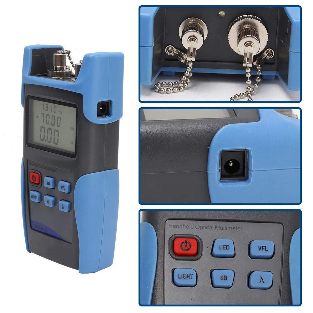 +5DBM with Large Screen for Testing Maintenance Red Light Optical Power Meter Fiber Optic Tester Measuring Tool -70 BWJ828-A Optical Power Meter Wide Measuring Range