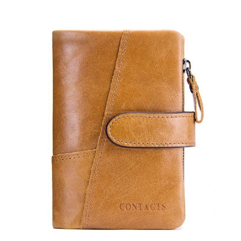WFF Europäische und amerikanische Damenbrieftasche, lässige Nähte-Clutch aus Leder, lässige Geldbörse für Mode B07N4PK286 Geldbrsen