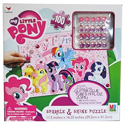 My Little Pony Sparkle & Shine 100 Piece Puzzle: Toys & Games