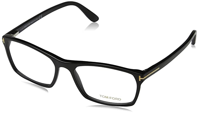 b8b148273b Image Unavailable. Image not available for. Color  TOM FORD TF 5295 001  Shiny Black Clear Butterfly Eyeglasses 56mm