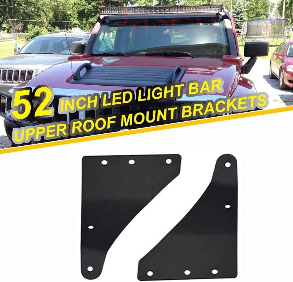 2X UPPER Mount Brackets+50inch LED WORK LIGHT BAR Fit for Hummer H3 2006-2010