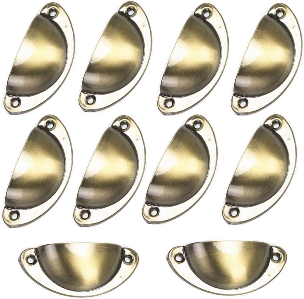 enertai 10 Poign/éEs De Tiroir 31mm 82mm Manches Roulantes. Petites Coquilles M/éTalliques