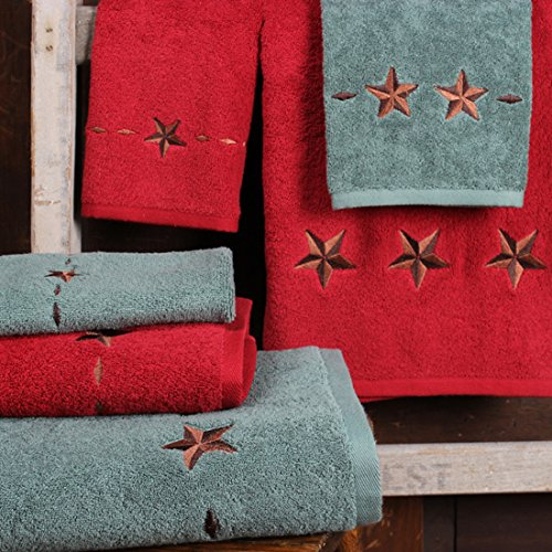 Embroidered Star Western Towel Set, Turquoise by Rod's (Image #1)