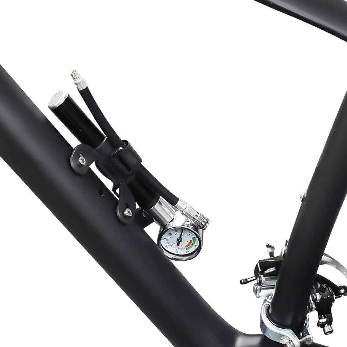 Zamelux Bomba de Aire con manómetro para Bicicleta o ...