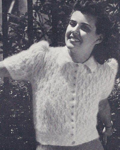 c4edf104a Vintage Knitting PATTERN to make - Fuzzy Knitted Angora Cardigan ...