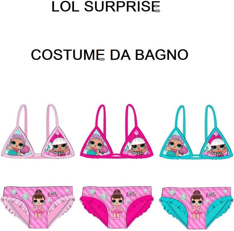 Bikini Poliestere Entertainment LOL Surprise ET1813 Costume Due Pezzi Bambina