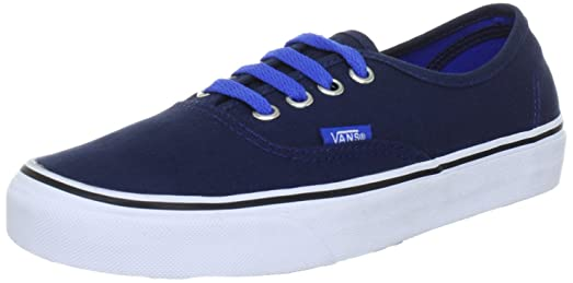 Authentic Dress Blue Canvas Skate Trainers-UK 6