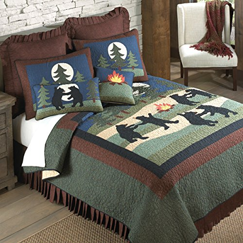Black Forest Decor Bear Dance Quilt - King by Black Forest Decor