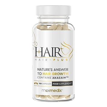 Hair-Plus - Suplemento Para La Caída Del Cabello Con AnaGain - Clínicamente Probado - Estimula El Crecimiento Natural Del Cabello - 60 Cápsulas: Amazon.es: ...
