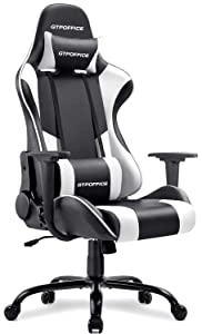 Gtpoffice Reclining Swivel Leather Computer Chair