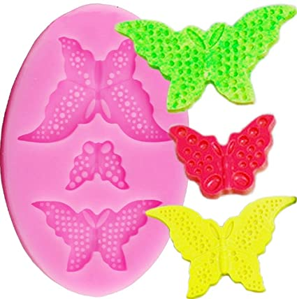 Inception Pro Infinite Molde de Silicona para Uso Artesanal de 3 Mariposas con cavidades Redondas