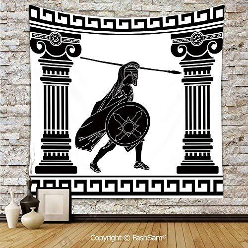 FashSam Tapestry Wall Blanket Wall Decor Black Warrior