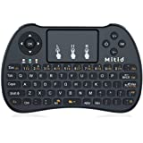 Mitid 2.4G Wireless Mini Keyboard with Mouse Touchpad for Google Android TV Box/IPTV/HTPC (2017 Updated), Black