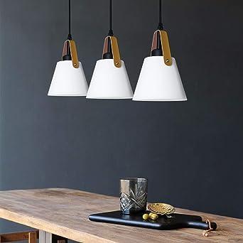 Lámpara colgante Lámpara de comedor de plástico blanco vintage de 3 llamas con portalámparas E27 en apariencia de metal Lámpara de araña en diseño retro para dormitorio salón comedor (sin bombilla): Amazon.es: