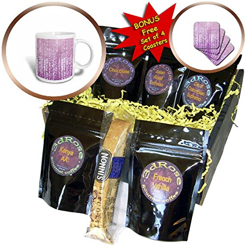 Dreamy Dots (3dRose PS Chic - Picturing Purple White Dreamy Confetti Dots - Coffee Gift Baskets - Coffee Gift Basket (cgb_270964_1))