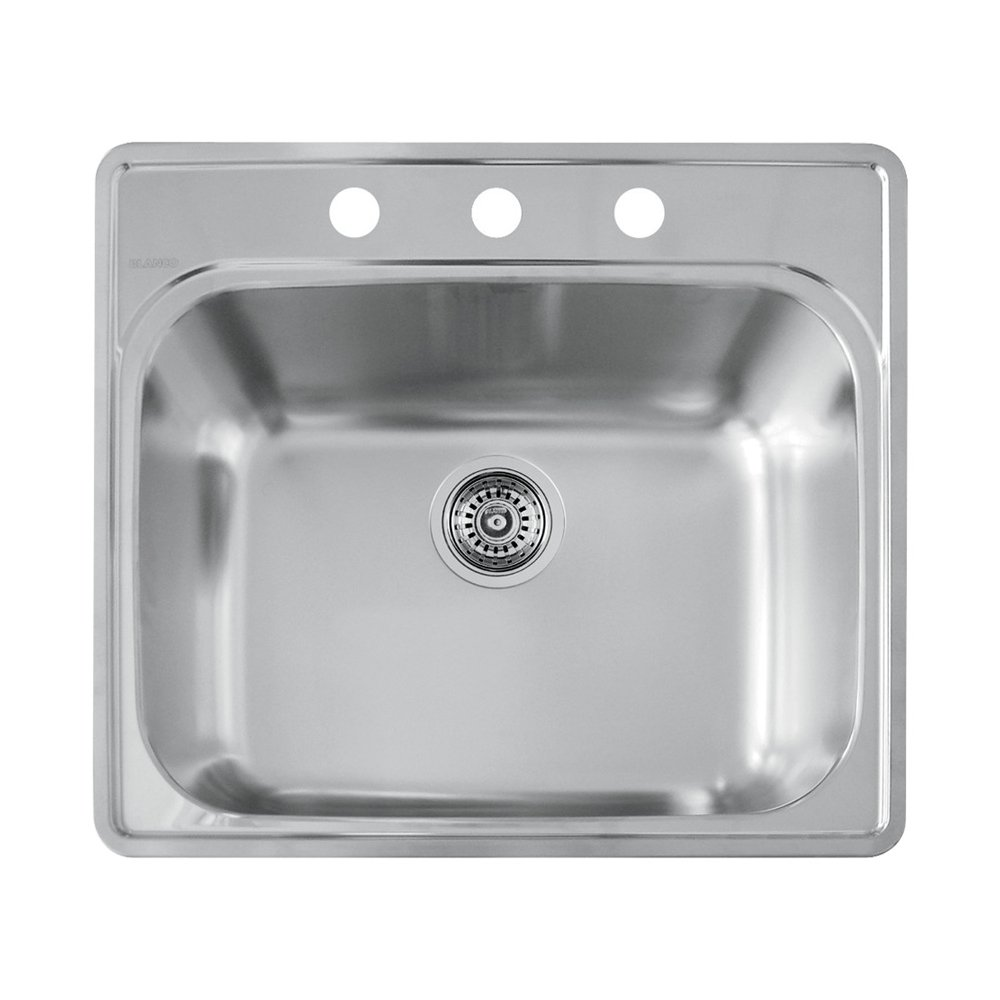 Blanco 441400 3 Hole Essential Laundry Sink   Single Bowl Sinks   Amazon.com