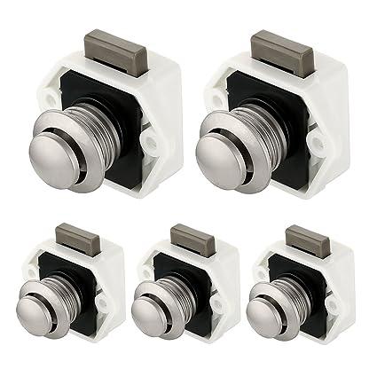 Bon Scorpiuse 5 Pack Push Button Latch Keyless Cabinet Lock For RV Motor  Caravan Cupboard Door (