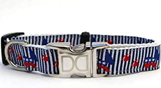 product image for Democrat Doggie Custom Dog Collar (Optional Matching Leash Available) XL