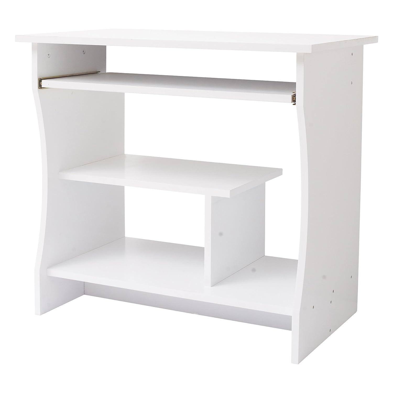 Mobili Rebecca® Table Basse Informatique Ordinateur Bois Blanc Chambre Maison Bureau (Cod. RE4945)