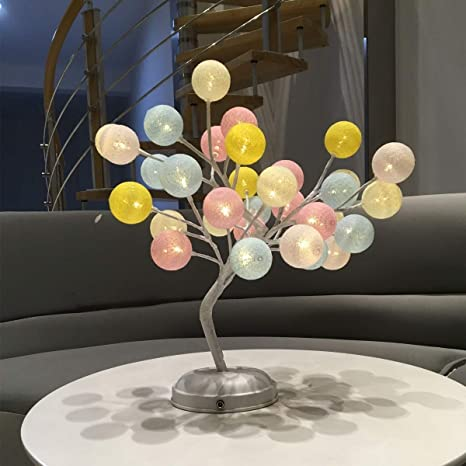 Dcqao Decoración del partido Lámparas de mesa Con pilas o ...