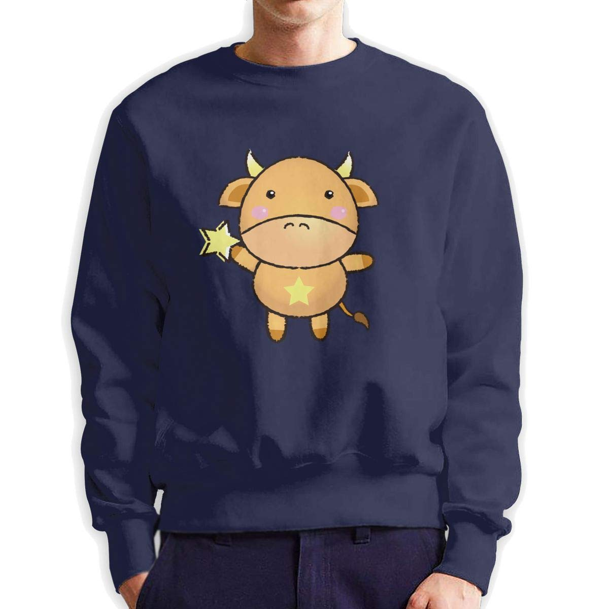 MOKLKHU Mens Taurus Crewneck Sweatshirt