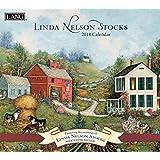 """Lang Wall Calendar """"Linda Nelson Stocks"""" Artwork-12 Month-Open 13 3/8"""" X 24"""""""