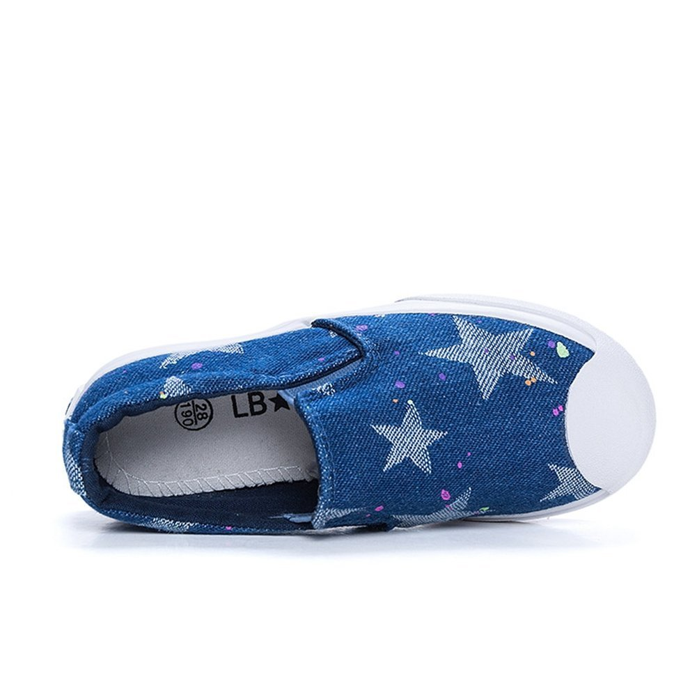 Toddler//Little Kid//Big Kid Comfortable Orlando Johanson New Girls Sneakers Slip on Loafer Rubber Sole Canvas Shoes
