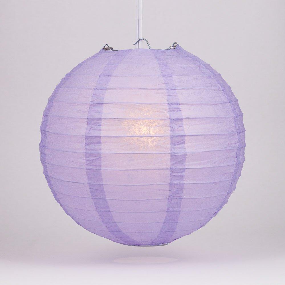 球体ペーパーランタン うね織り模様 ぶらさげるのに(電球は別売り) 24 Inch パープル 24EVP-LV 1 B00A03R0KA 24 Inch|ラベンダー ラベンダー 24 Inch