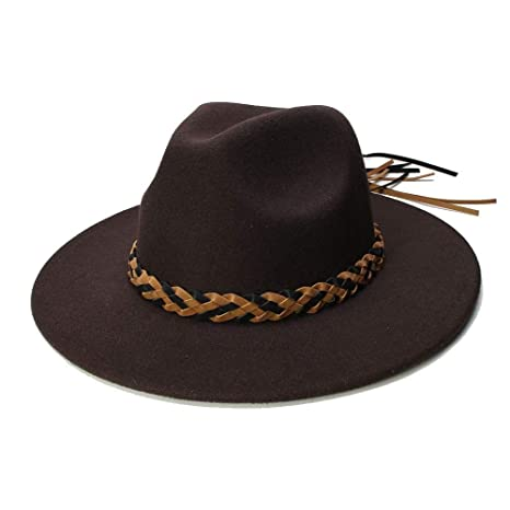 HONGkeke Sombrero de Mujer de Lana Chapeau Femme Fedora para ...