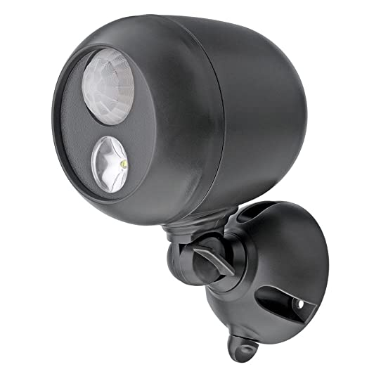 Mr. Beams MB360 Battery Powered Motion Sensing LED Outdoor Security  Spotlight (Dark Brown)