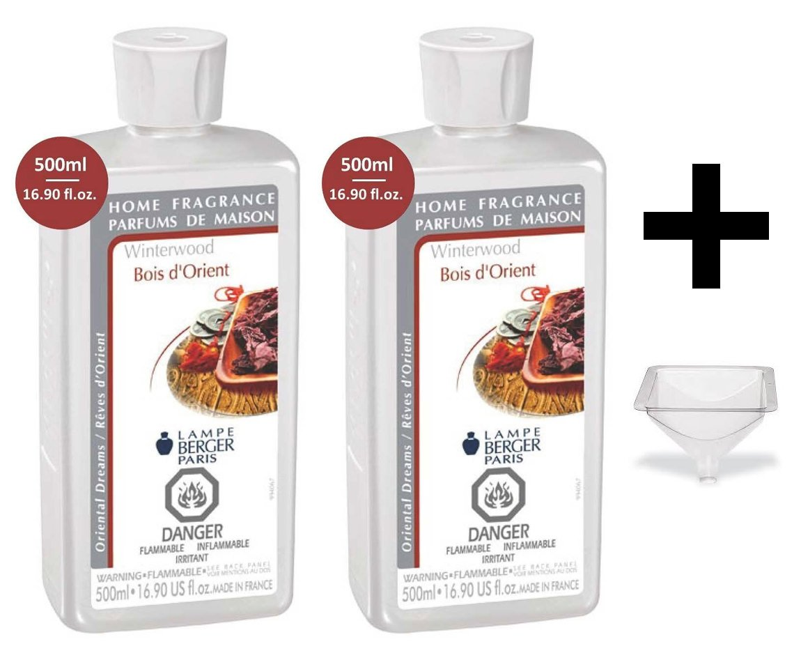 Lampe Berger Fragrance - Winterwood - 500ml/16.9 fl.oz. 2 Pack with FREE Funnel
