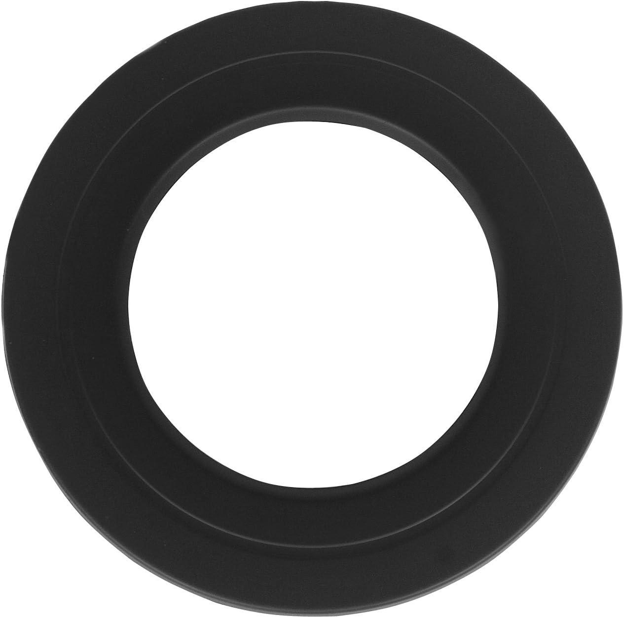 Rosette /Ø 120 mm Schwarz 30 mm Breite f/ür Rauchrohr Ofenrohr