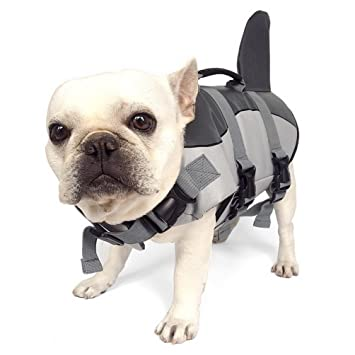 smalllee lucky store shark style dog life jacket ripstop life jacket
